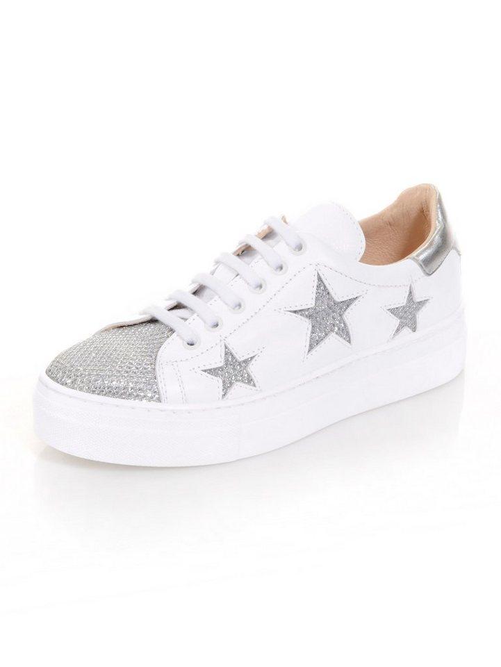 Damen Alba Moda Sneaker mit seitlichen Sternen weiß   04055716266482 1bc9e79c83
