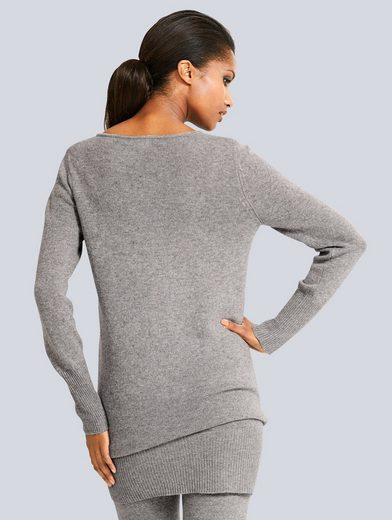Alba Moda Long Pullover In Soft Quality With Wool Share