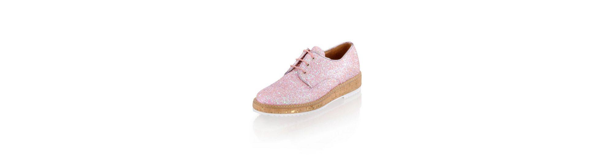 Alba Moda Schnürschuh aus Glittermaterial Rabatt Online-Shopping Qualität Aus Deutschland Billig Wirklich Billig Online Verkauf Fabrikverkauf AyKKh