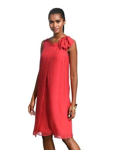 Alba Moda Seidenkleid mit Zierschleife