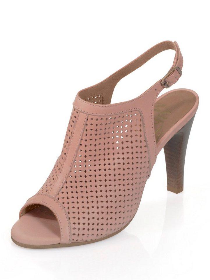 Damen Alba Moda Sandalette mit Lochmuster rosa | 04055716279130