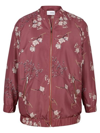 Miamoda Blouson With Floral, Pattern