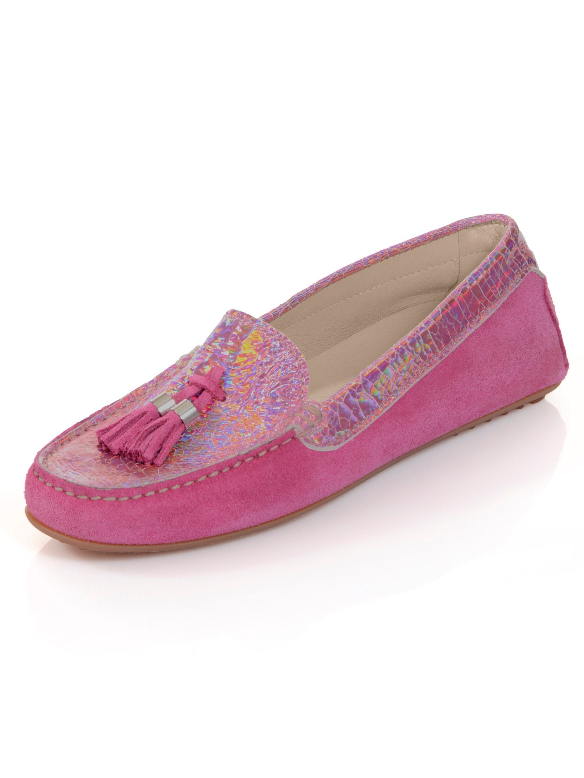 Alba Moda Mokassin mit Folienbeschichtung kaufen  pink