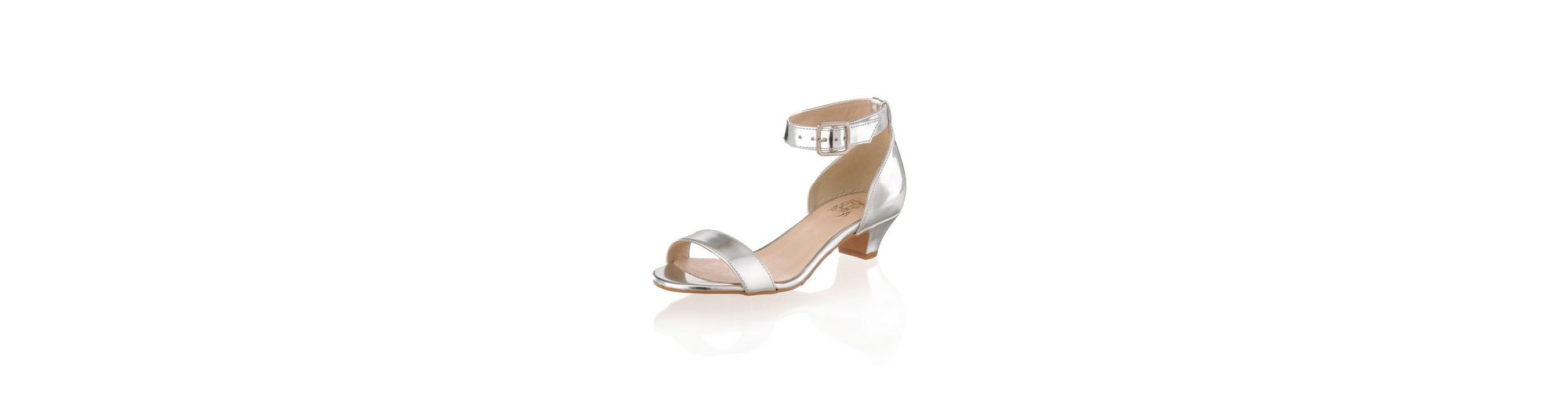Alba Moda Sandalette in metallic-Optik