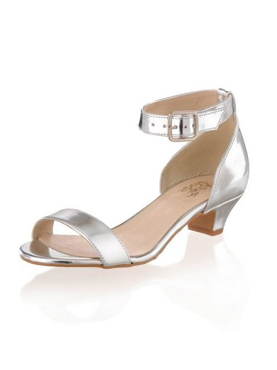 Alba Moda Sandalette in metallic-Optik