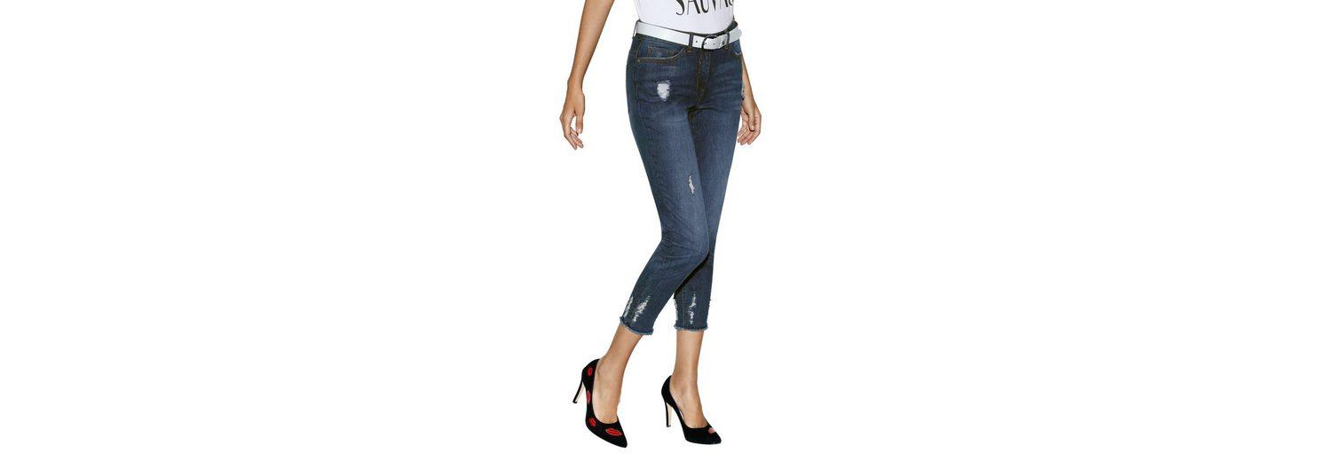 Amy Vermont 7/8-Jeans mit Destroyed-Effekten