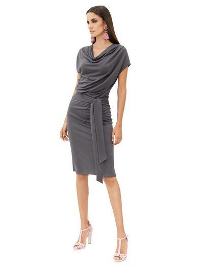 Amy Vermont Jerseykleid mit leichtem Wasserfallausschnitt