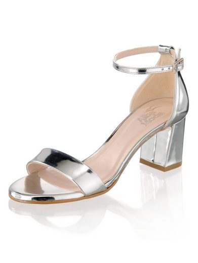 Alba Moda Sandalette im Metallic-Look