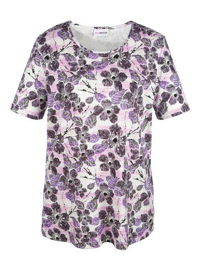 MIAMODA Longshirt mit Blumendruck-Muster allover
