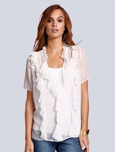Alba Moda Bluse mit Rüschen