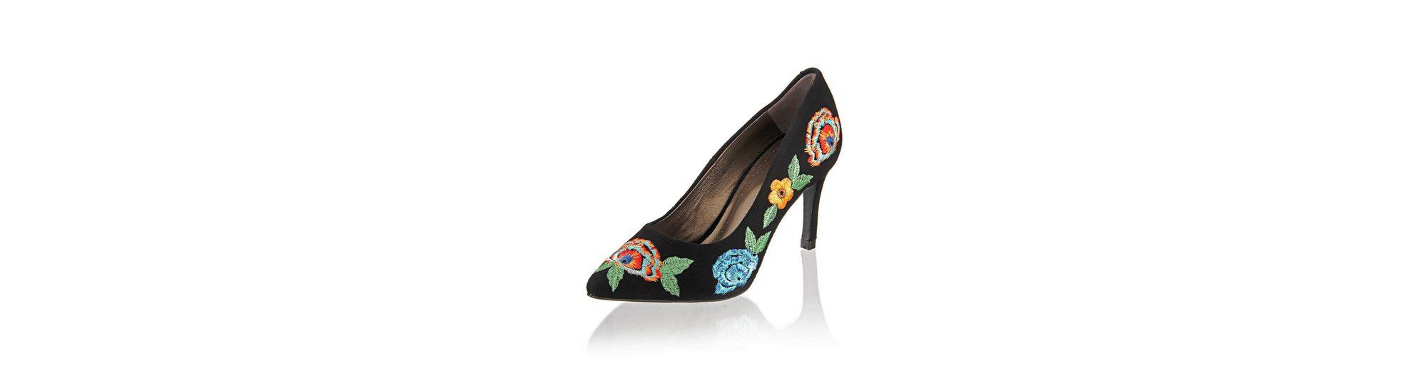 Alba Moda Pumps mit Blumenstickerei