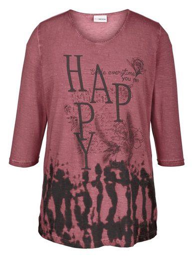 MIAMODA Shirt mit Schriftzug-Druck