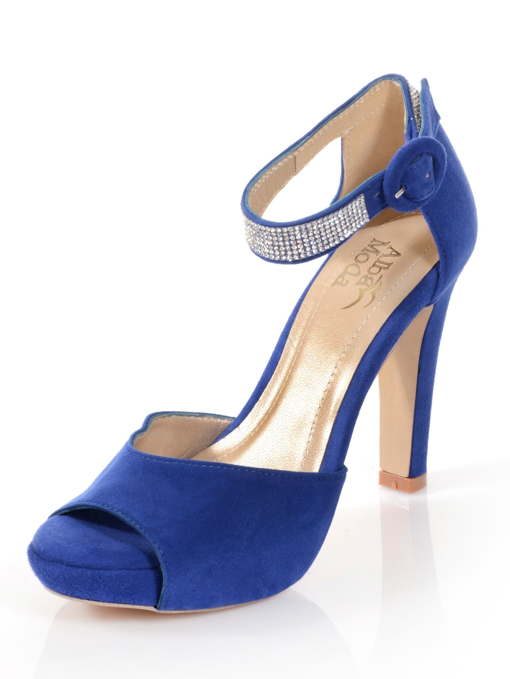 Alba Moda Sandalette mit Plateausohle kaufen  royalblau