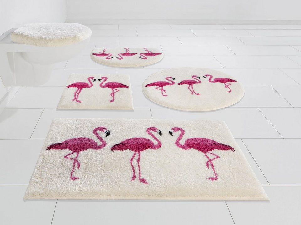 badematte flamingos grund exklusiv h he 20 mm rutschhemmend beschichtet online kaufen otto. Black Bedroom Furniture Sets. Home Design Ideas
