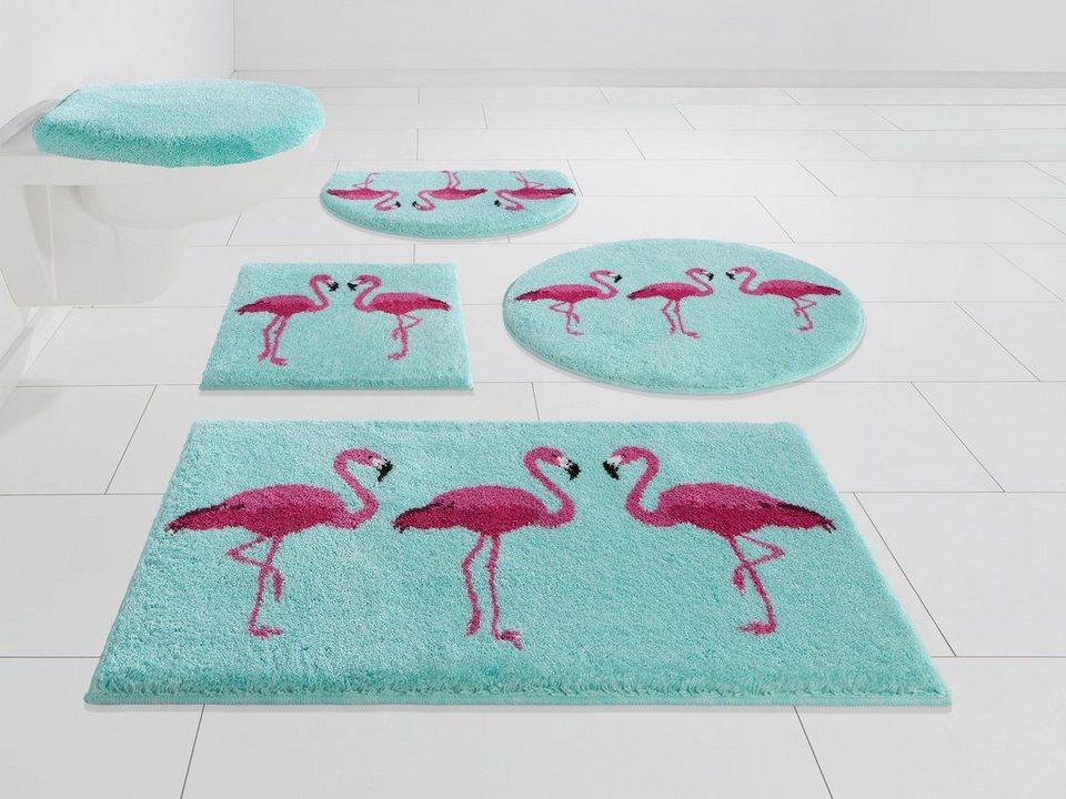 Badematte Flamingos Grund Exklusiv Hohe 20 Mm Rutschhemmend