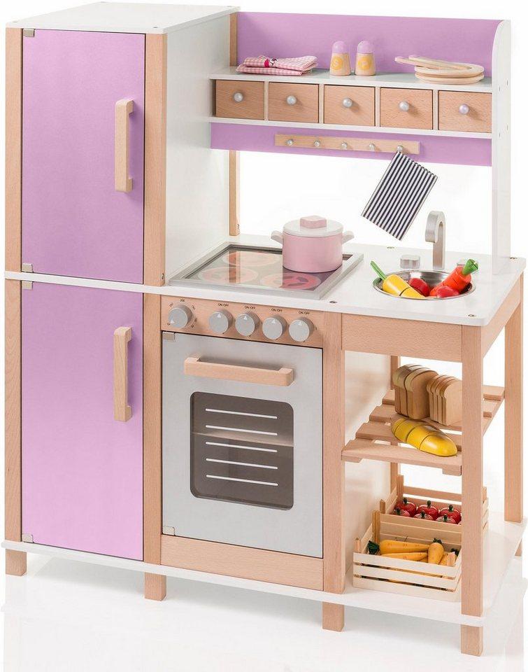 Sun Spielküche Holz, Mit praktischer Hakenleiste und Schubkästen online  kaufen   OTTO