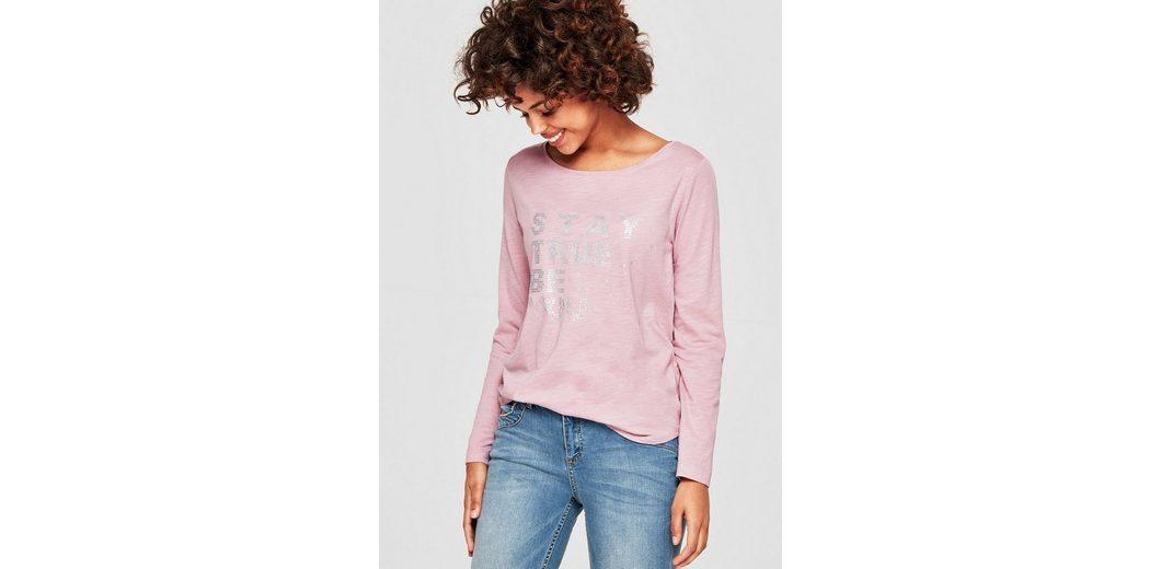s.Oliver RED LABEL Slub Yarn-Shirt mit Print Spielraum Shop Online-Verkauf Freies Verschiffen Manchester Großer Verkauf Zum Verkauf Der Billigsten 0ynFYxY0