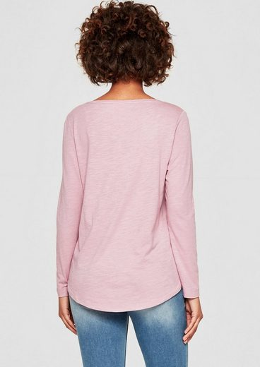 s.Oliver RED LABEL Slub Yarn-Shirt mit Print