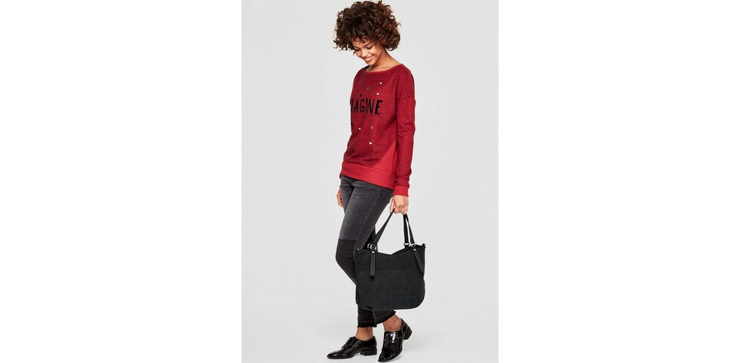 s.Oliver RED LABEL Hobo Bag mit Cut-Out-Muster Beste Günstig Online QYtt1Te2