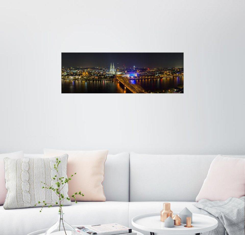 posterlounge wandbild rclassen k ln nacht skyline panorama online kaufen otto. Black Bedroom Furniture Sets. Home Design Ideas