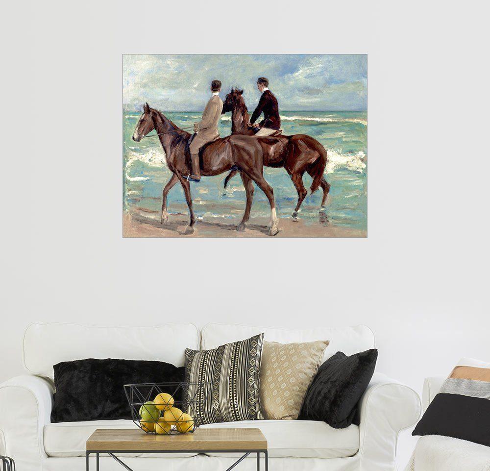 Posterlounge Wandbild - Max Liebermann »Zwei Reiter am Strand«