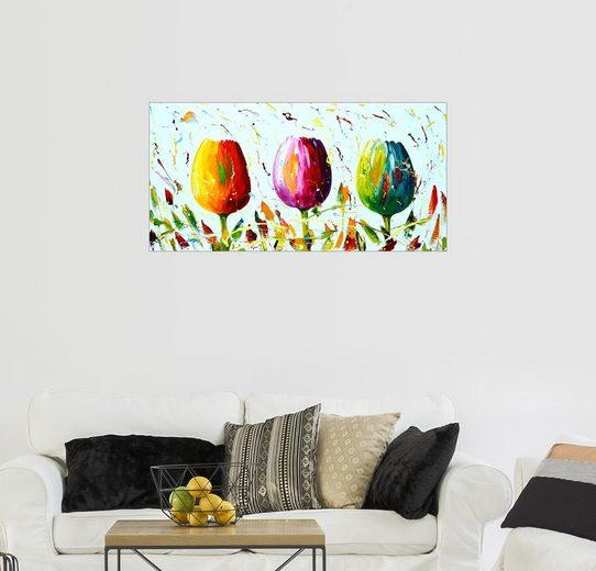 Posterlounge Wandbild - Theheartofart Gena »Tulips Light«