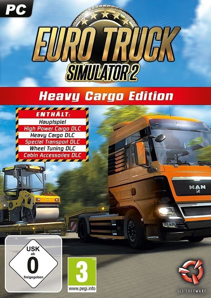 astragon pc spiel euro truck simulator 2 heavy cargo. Black Bedroom Furniture Sets. Home Design Ideas