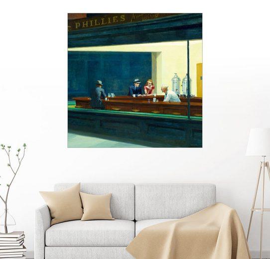 Posterlounge Wandbild - Edward Hopper »Nachtschwärmer (Detail)«