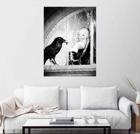 Posterlounge Wandbild »Alfred Hitchcock«