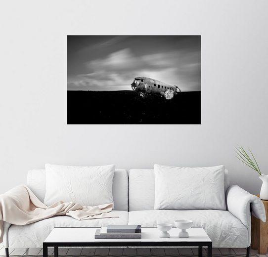 Posterlounge Wandbild - Muharrem Ünal »Flugzeugwrack auf Island«