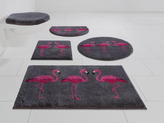 Badematte »Flamingos« GRUND exklusiv, Höhe 20 mm, rutschhemmend beschichtet