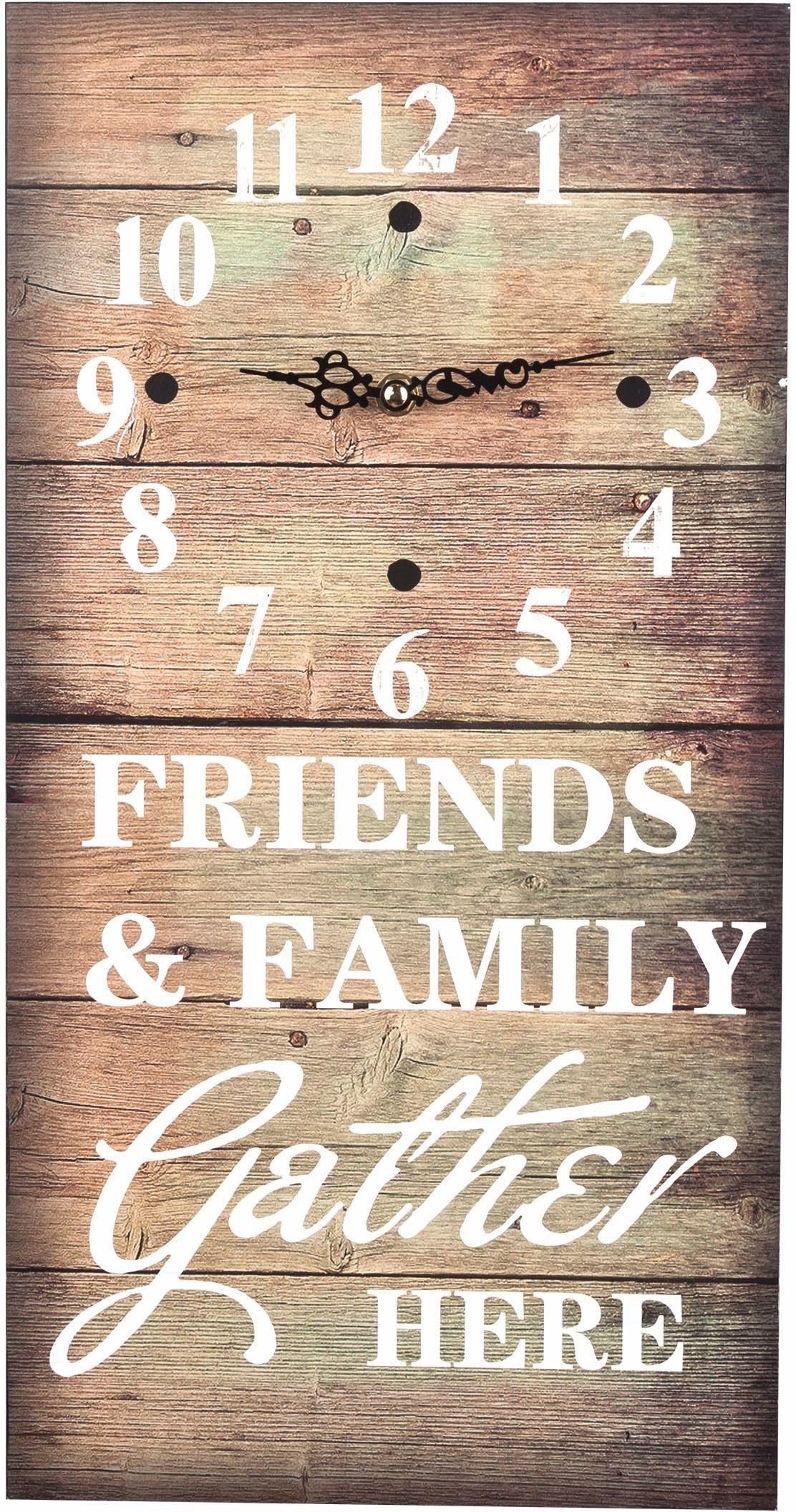 Home affaire Wanduhr »Friends & Family«