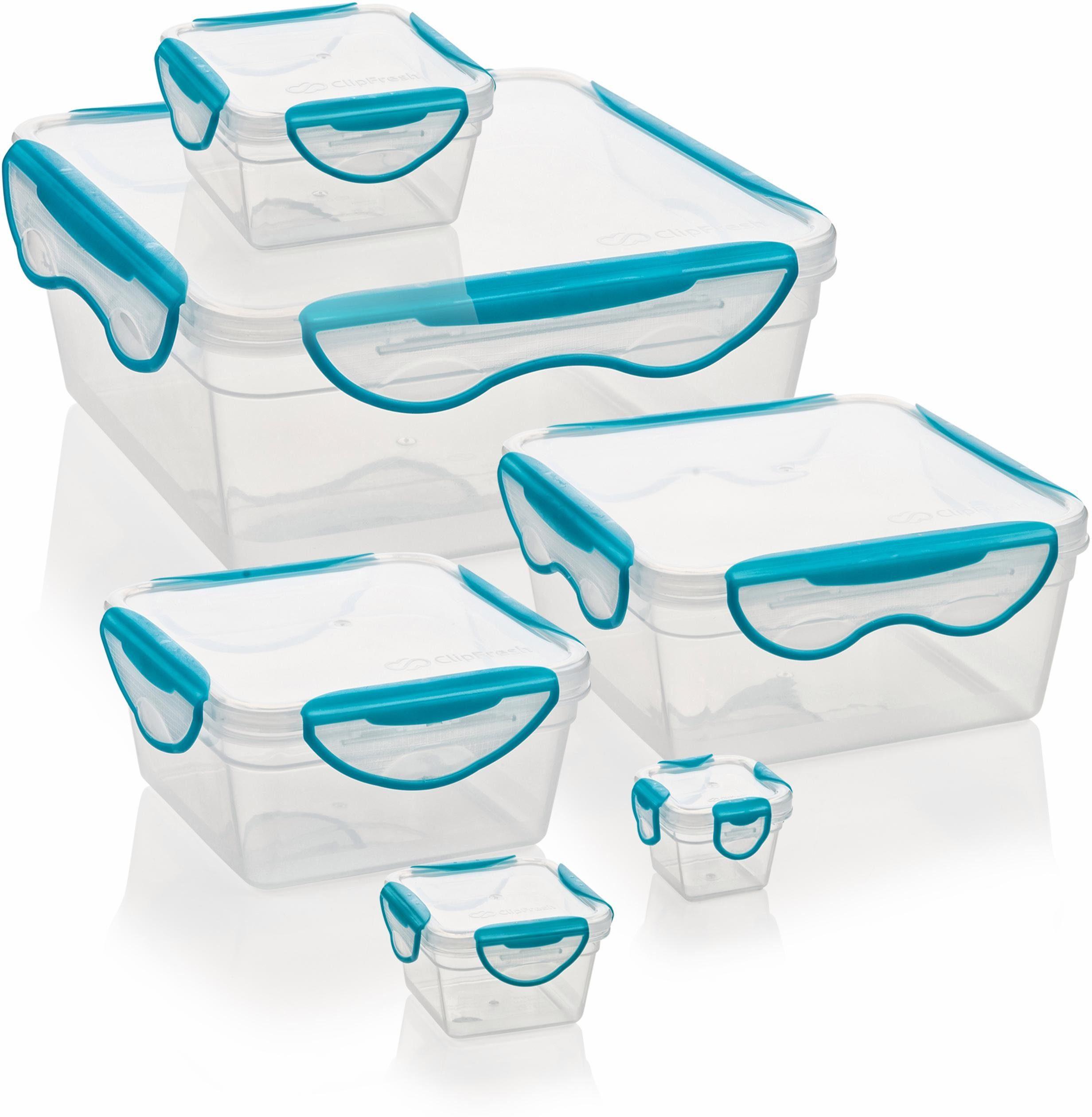 Genius® Frischhaltedosen, eckig, 6-teilig, »Clip Fresh«