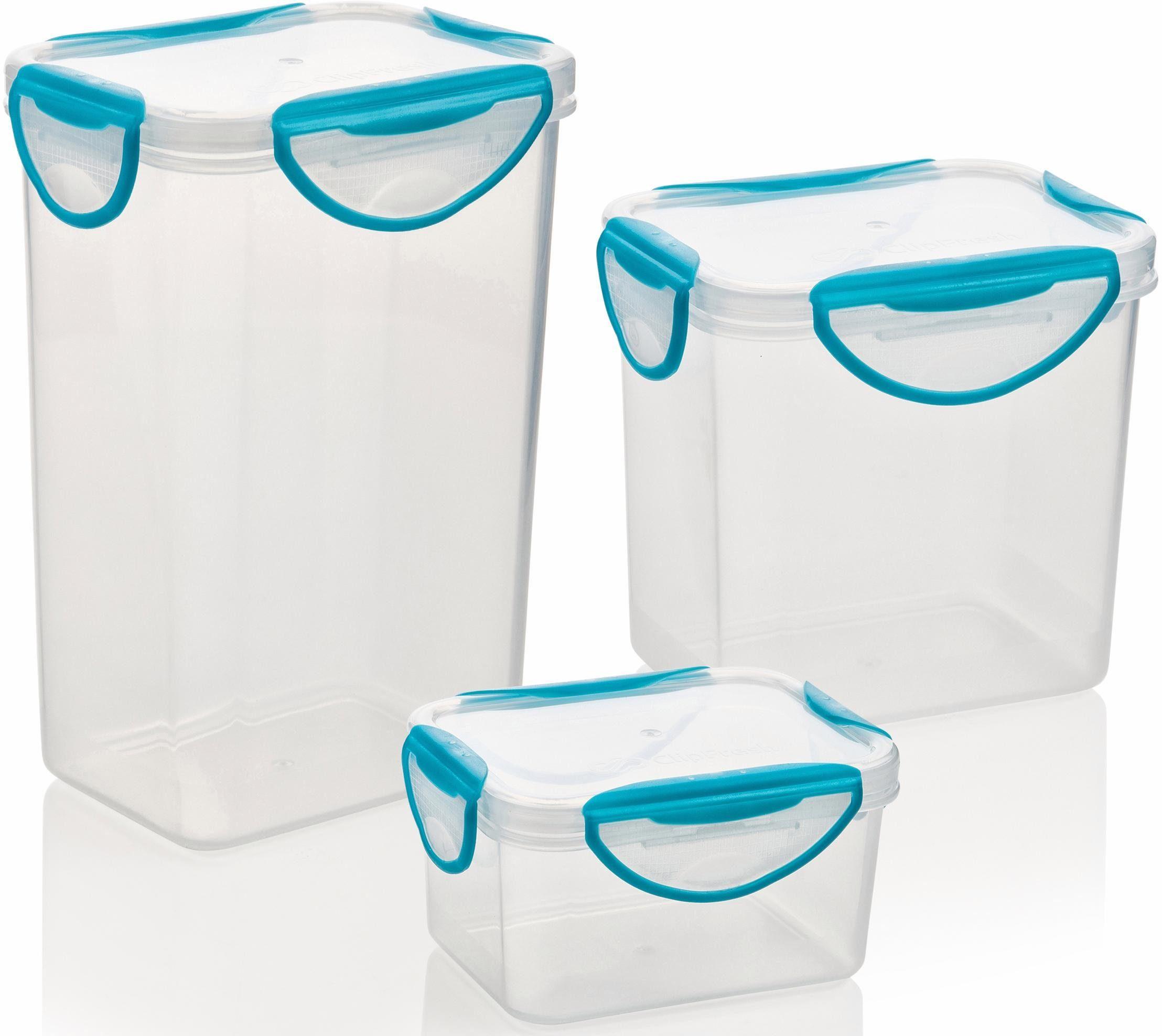 Genius® Frischhaltedosen, eckig, 3-teilig, »Clip Fresh«