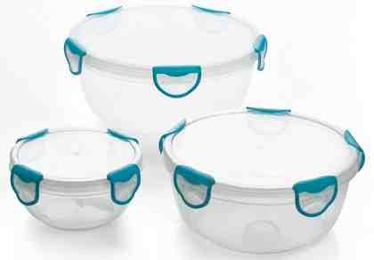 Genius® Frischhaltedosen, rund, 3-teilig, »Clip Fresh«