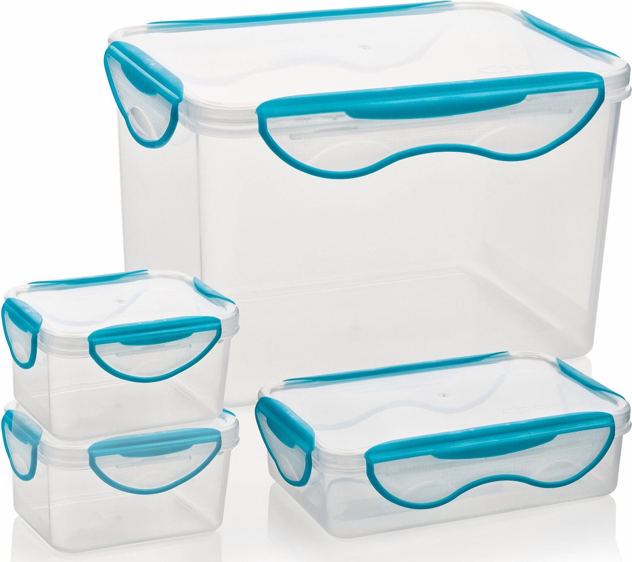 Genius® Frischhaltedosen, eckig, 4-teilig, »Clip Fresh«