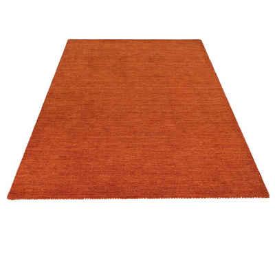 Wollteppich »Gabbeh uni«, Theko Exklusiv, rechteckig, Höhe 15 mm, reine Wolle, Wohnzimmer