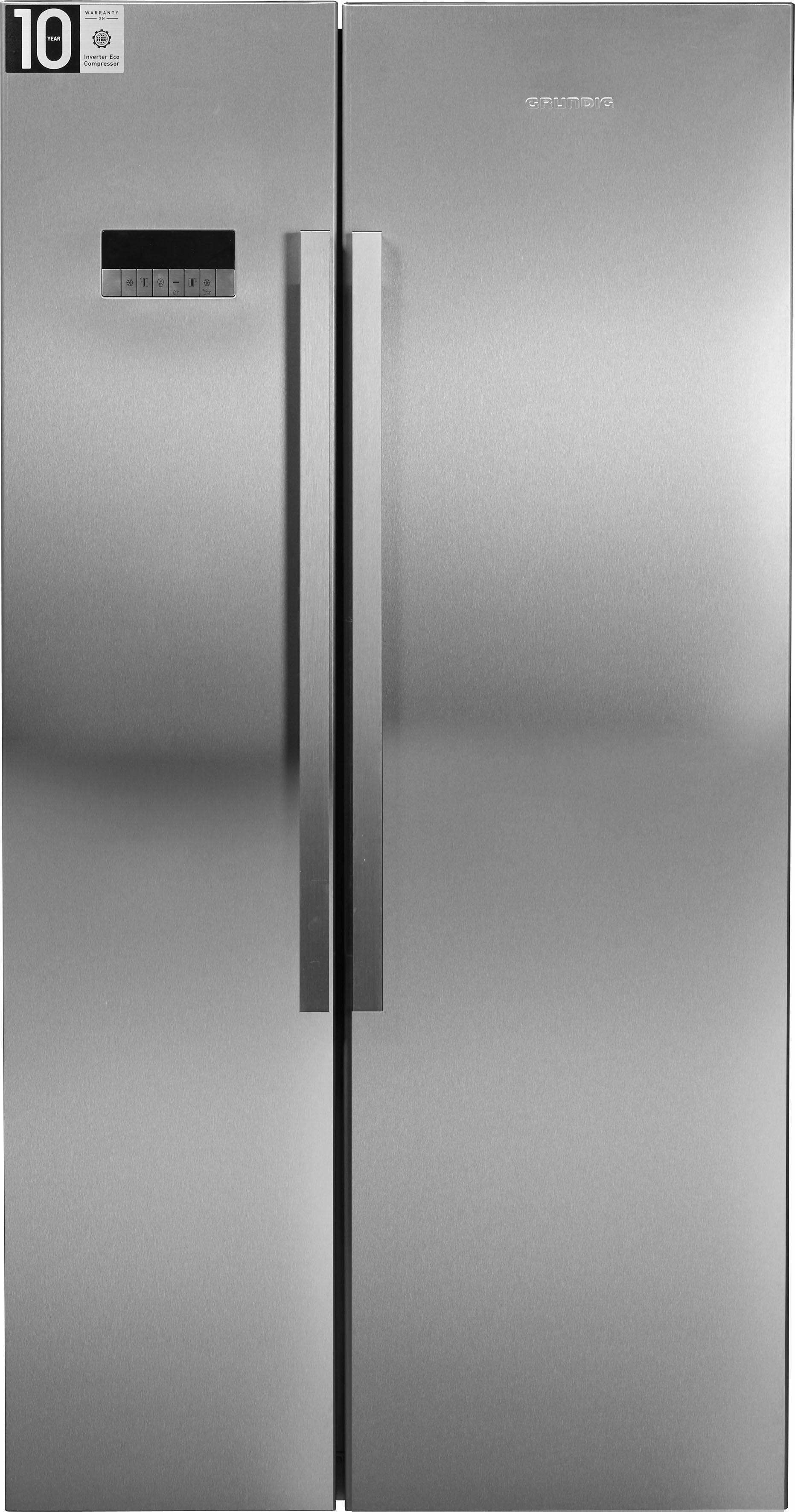 Grundig Side-by-Side GSBS11130X, 182 cm hoch, 91 cm breit