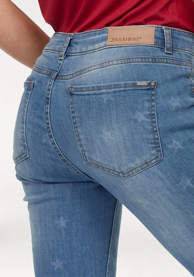 ZABAIONE Skinny-fit-Jeans mit Sternenprint