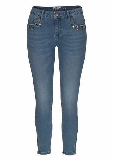 Only Ankle-Jeans KENDELL ZOE, mit Glitzersteinchen