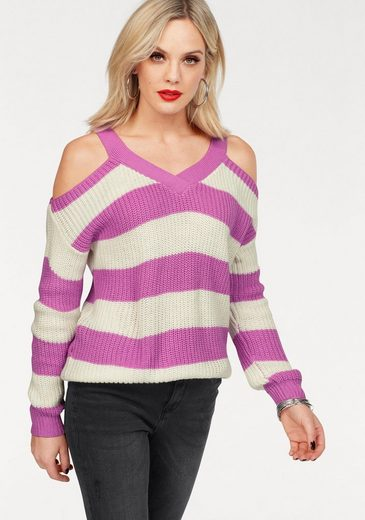 Vero Moda Streifenpullover SIBBO, mit Schulter Cut Outs