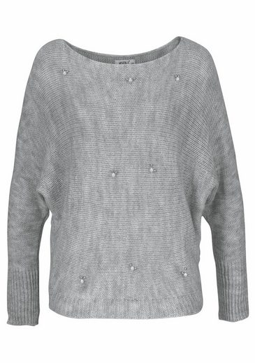 Hailys Knitted Sweaters Ellipse, With Pearls