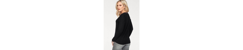 Only V-Ausschnitt-Pullover SYSSE, mit Spitze