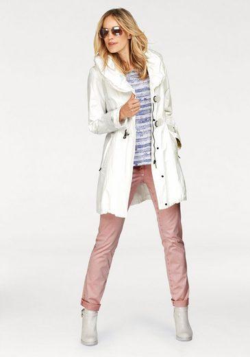 GERKE MY PANTS 5-Pocket-Hose, Gerade Hose aus leicht glänzender Qualität, normale Leibhöhe