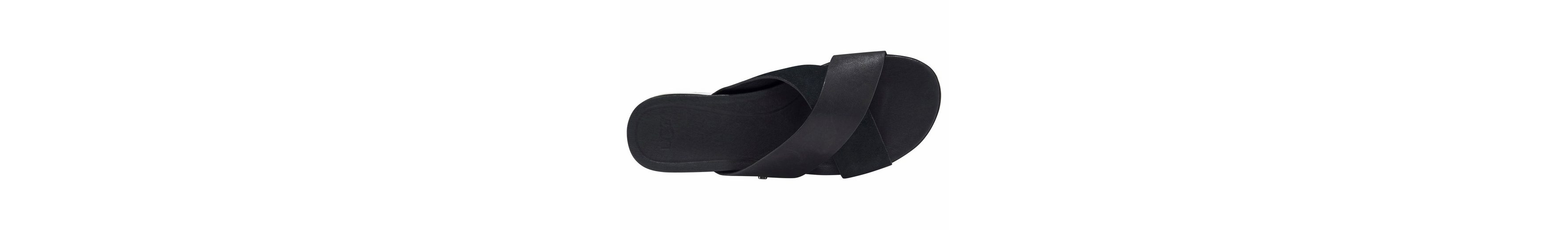 UGG Kari Pantolette, im Materialmix aus Leder und Velourleder