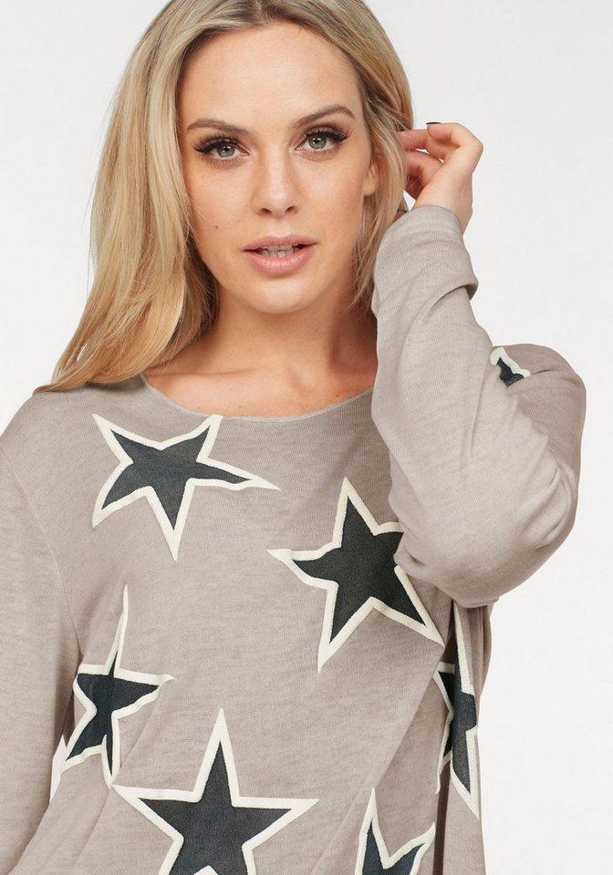 ZABAIONE Strickpullover »VALESKA« mit Sternenprint