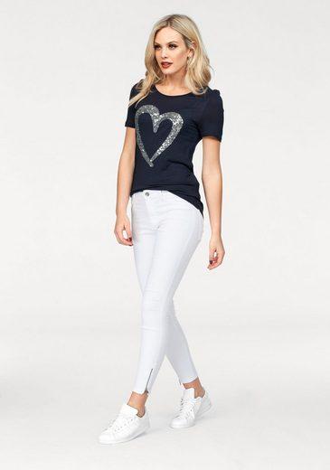 Vero Moda Rundhalsshirt ILLY, mit Pailletten Herz