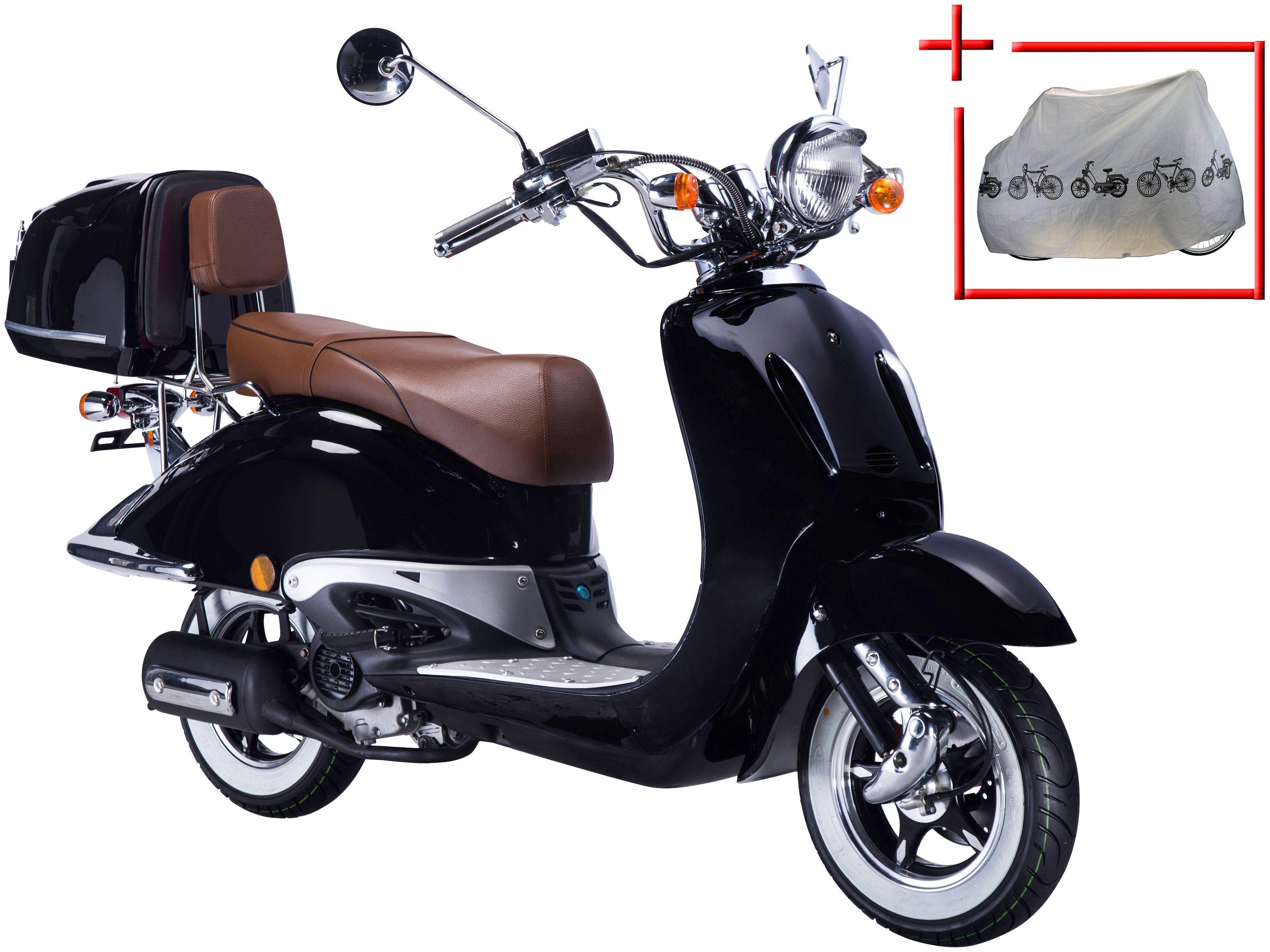 GT UNION Motorroller »Strada«, 50 ccm, schwarz-braun