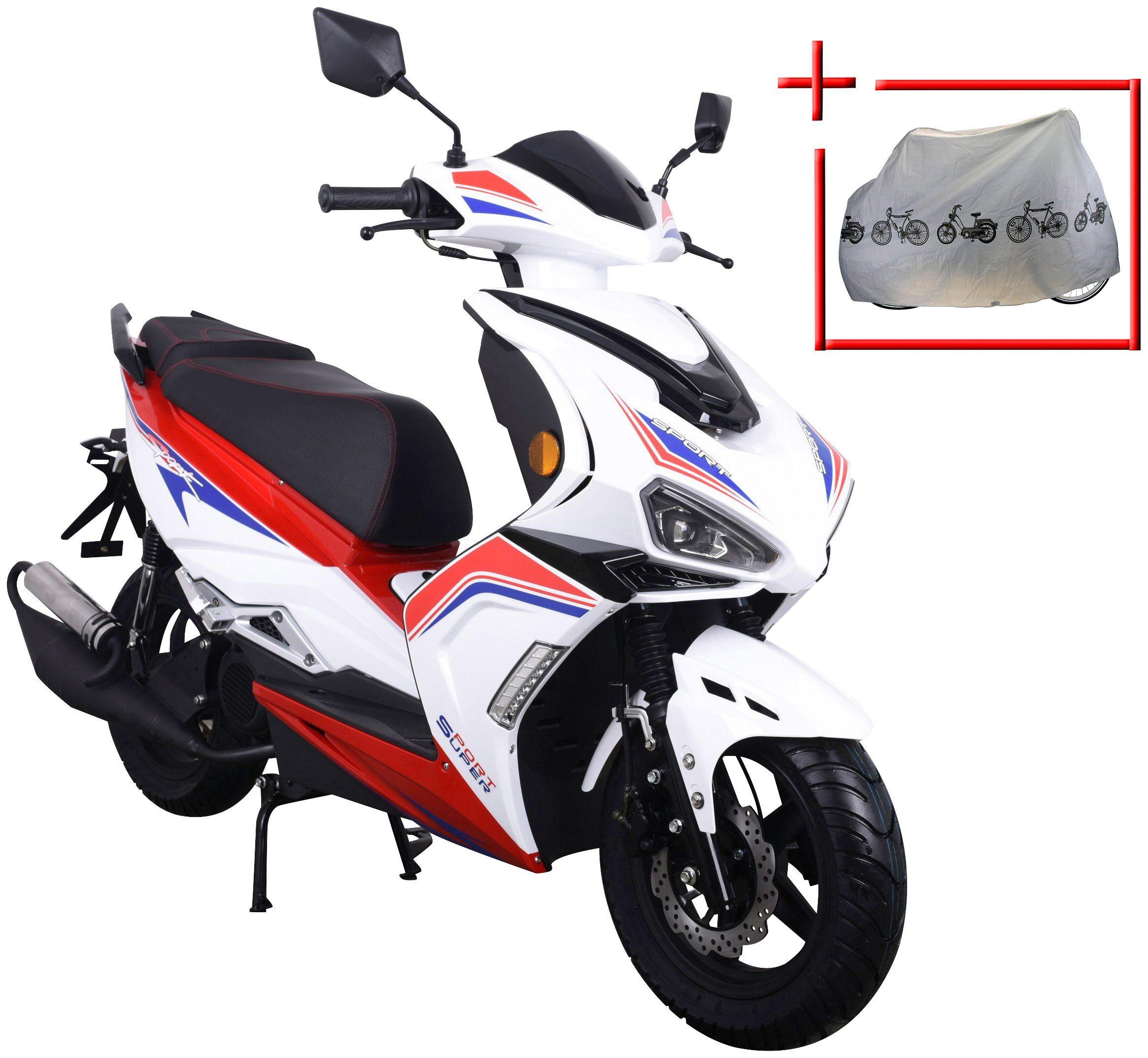 GT UNION Motorroller »Striker«, 50 ccm, weiß