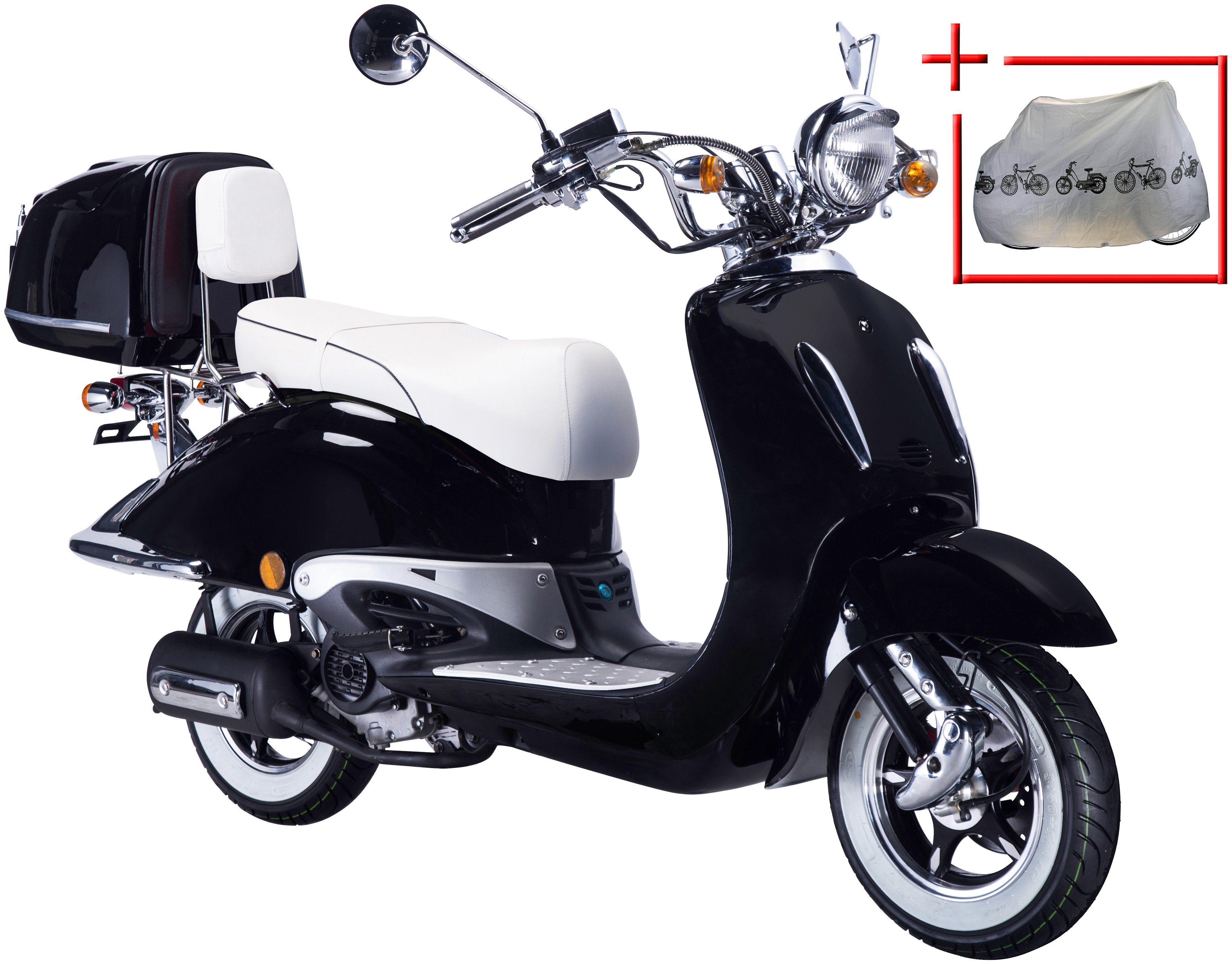 GT UNION Motorroller »Strada«, 50 ccm, schwarz-weiß